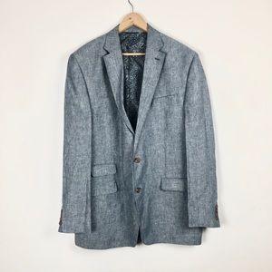 Ralph Lauren Blazer Size 44XL Men Light Blue Linen